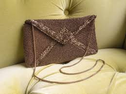 vintage 1950s 1960s walborg handbag clutch beaded cross body purse