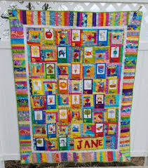 friday finish abc panel baby quilt