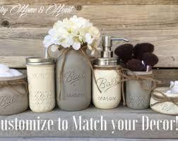 Rustic Bathroom Accessories Sets by Rustic Bathroom Decor Farmhouse Bathroom Decor Mason Jar