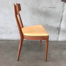 vintage mcm chair by kipp stewart for drexel tan seat