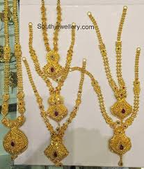 gold necklace collection images Plain gold necklaces collection jewellery designs jpg
