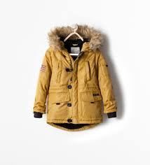 zara kids padded coat with detachable fur style pinterest