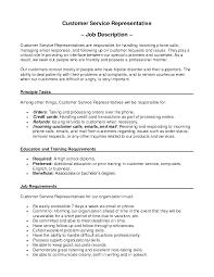 Customer Service Representative Job Description Resume by Call Center Description For Resume Resume For Your Job Application