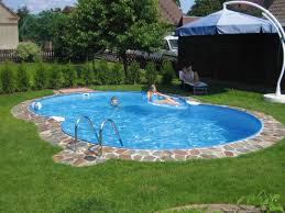 Creative Backyard Inspiring Creative Backyard Ideas Datzon Alluring Oval Swimming
