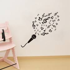 compare prices on microphone wall art online shopping buy low microphone music notes waterproof diy removable art vinyl wall stickers decor living room bedroom mural decal