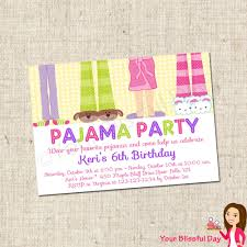sleepover party invites printable pajama party invitations 10 00 via etsy pajama