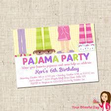 printable pajama party invitations 10 00 via etsy pajama
