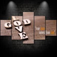 Christian Home Decor Christian Home Decor God Love Wall Art Framed Canvas 5 Piece