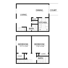 2 bedroom floorplans apartments floor plans with 1 or 2 bedrooms of baton
