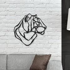 Tiger Head Wooden Wall Art Designer Wood Wall Decor Hu - Wall art designer