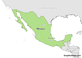 Map Of Mexico 1821 Mexico Graphicmaps Com