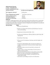 Sample Resume For Civil Site Engineer by Resume For Draughtsman