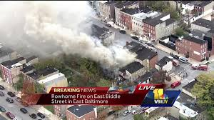 Row Home Design News by Photos Crews Battle Fire In East Baltimore