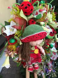 watermelon wreath summer wreath summer deco mesh wreath summer