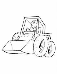 construction trucks coloring pages coloring bobcat track loader
