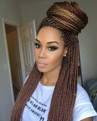 women of color twist hairstyles loving her makeup and the color of her senegalese twist