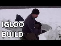 How To Build An Igloo In Your Backyard - how to build an igloo or how to make an igloo by pondguru youtube