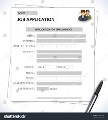 Job Application Resume Example by Minimalist Cv Resume Template Job Application Stock Vector