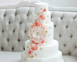 coral wedding cakes coral and white floral cake mondays are sweet imbue