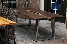 Custom Metal And Wood Furniture Live Edge Table And Furniture Showroom In The Chicago Area