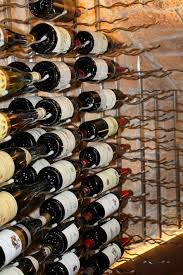 metal racks for building contemporary custom wine cellars houston
