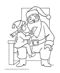 santa claus coloring pages santa claus mall honkingdonkey