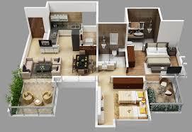 2 bhk flat design plans hirashree lake city floor plans project 3d views in kolhapur