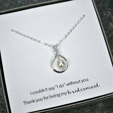 necklace gift sets images Bridesmaid gift set infinity pearl necklace sterling silver jpg
