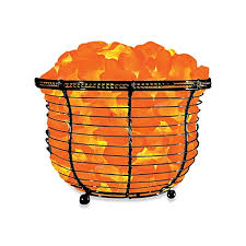 Himalayan Glow Ionic Crystal Salt Basket Tall L Bed Bath Beyond