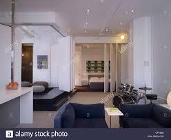 drumkit in open plan broadway loft apartment hollywood us stock