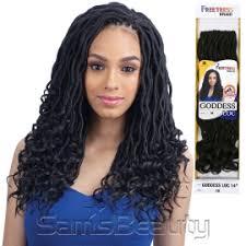 crochet braids freetress synthetic hair crochet braids goddess loc 14 samsbeauty