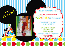 Boy Birthday Invitation Cards Birthday Invites Charming Mickey Mouse Clubhouse Birthday