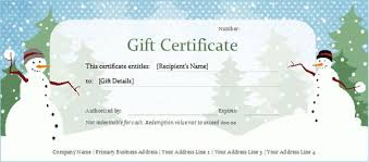 free holiday gift certificate templates free printable christmas