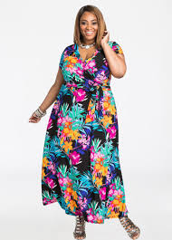 colorful dress plus size dresses surplice front colorful floral maxi dress