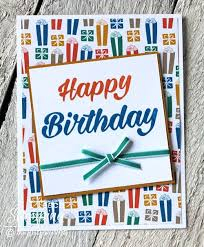 stamp a stack of simple handmade birthday cards for friends i