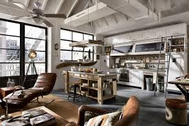 fabulous industrial style kitchen with additional home design