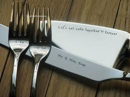 personalized wedding serving set 4 wedding cake serving set server knife and forks