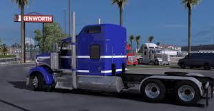 kenworth w900 kenworth w900 blue white mod mod ats mod american truck