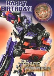 transformers birthday birthday card transformers happy birthday w badge dan