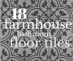 18 incredible farmhouse bathroom floor tiles twelve on main