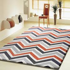 Area Rugs Contemporary Modern Contemporary Modern Grey With Orange Indoor Area Rug