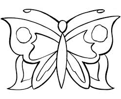 simple butterfly graphic pattern coloring page print