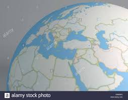 Africa Middle East Map by World Map Of Middle East Europe And North Africa Stock Photo