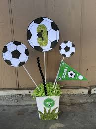 theme centerpiece soccer birthday party theme centerpiece by fantastikcreations