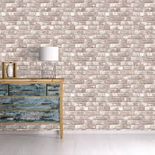 Removable Wallpaper Tiles by Taupe And Ivory Textured Brick Industrial Loft Removable Wallpaper