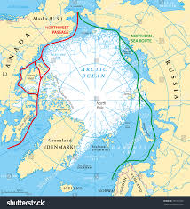 Baffin Bay On World Map by World Sea Routes Map World Map