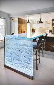 glass countertop kitchen 32 trendy and chic waterfall countertop ideas digsdigs