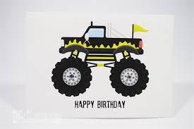 happy birthday card boy monster truck black hbc098 mum and