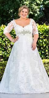 wedding dresses for plus size women applique half sleeve a line wedding dress plus size women s