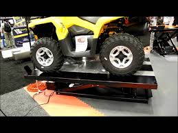 scissor lift table harbor freight handy 1500 lb electric motorcycle atv lift table youtube
